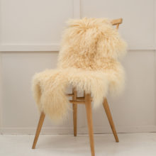 Cream Tibetan sheepskin