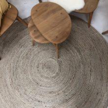 Jute round rug