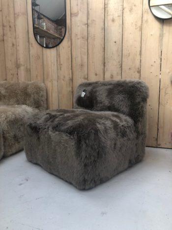 Taupe modular chair