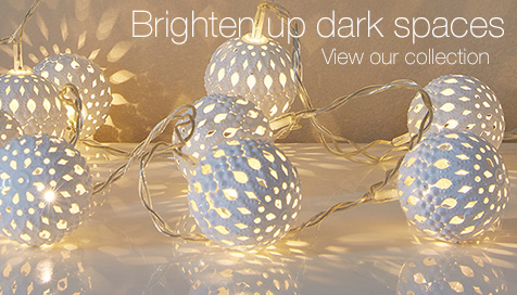Brighten up dark spaces with our lighting range