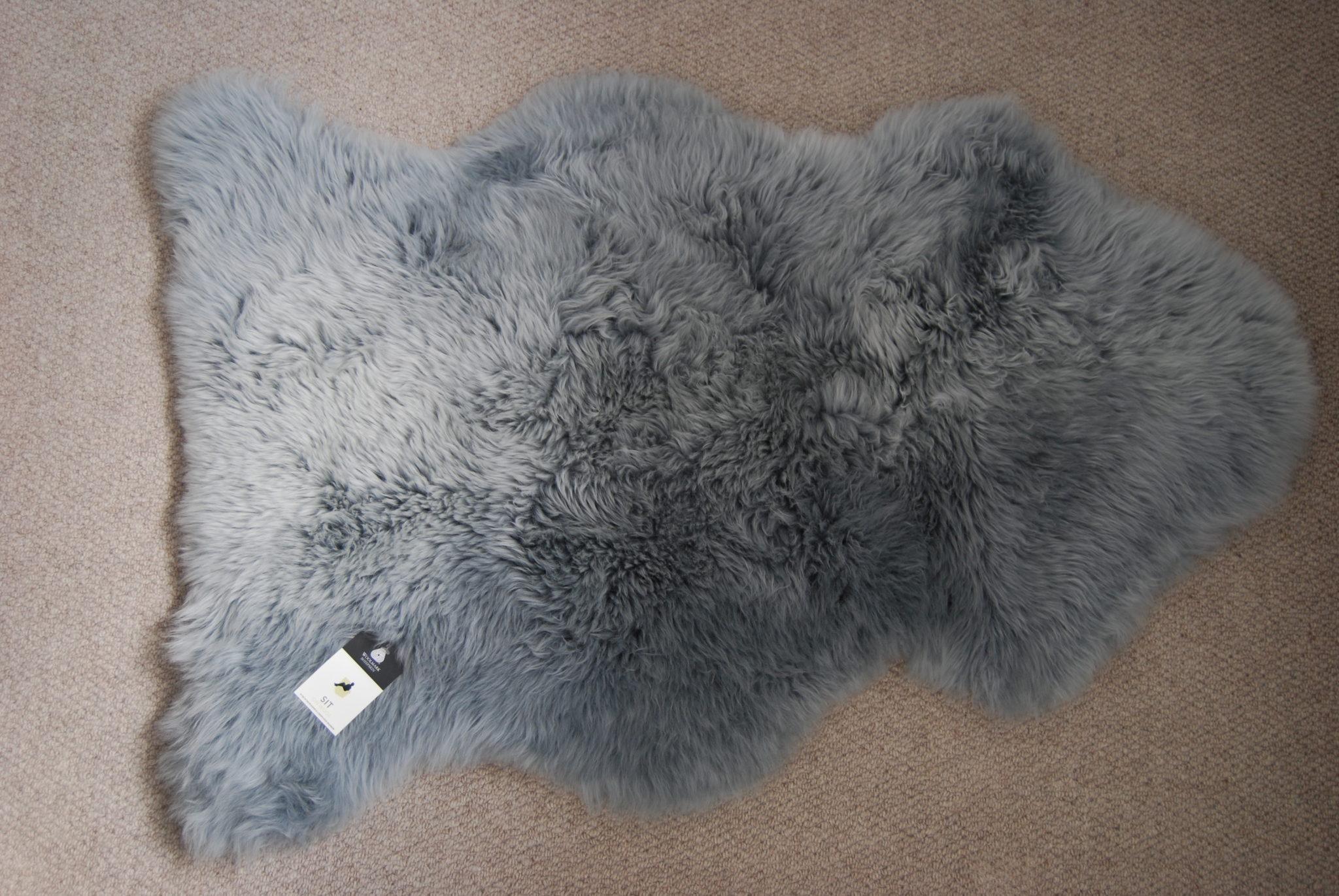 Grey Sheepskin Rug Home Decor