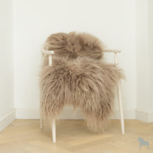 Light Taupe icelandic sheepskin