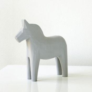 Gustavian Grey Dala Horse