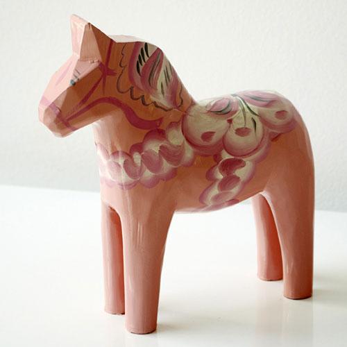 Pale Pink Dala Horse