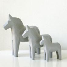 Gustavian Grey Dala Horses