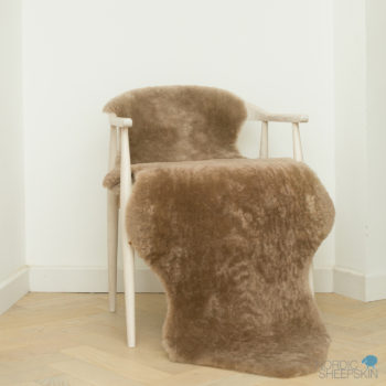 Taupe shearling double