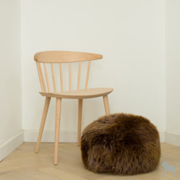 natural brown sheepskin pouffe