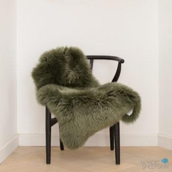 Forest Green sheepskin rug