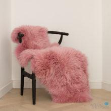 Double pink sheepskin rug