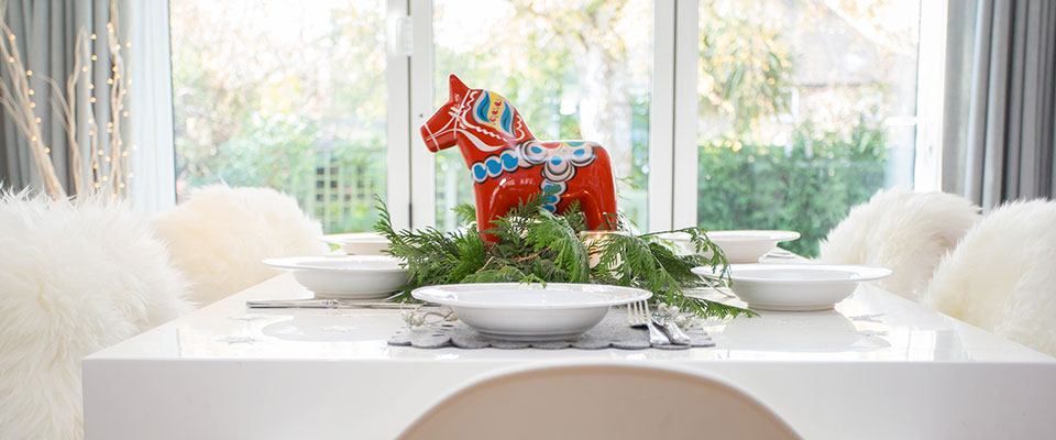 Swedish Wooden Horse and Sheepskin