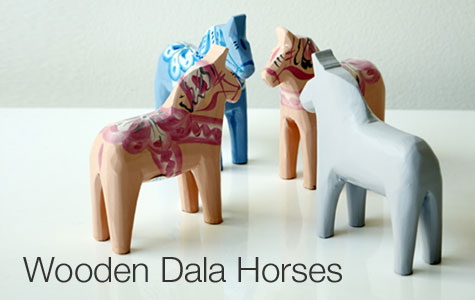 Wooden Dala Horses