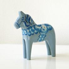 Pale Blue Dala Horse