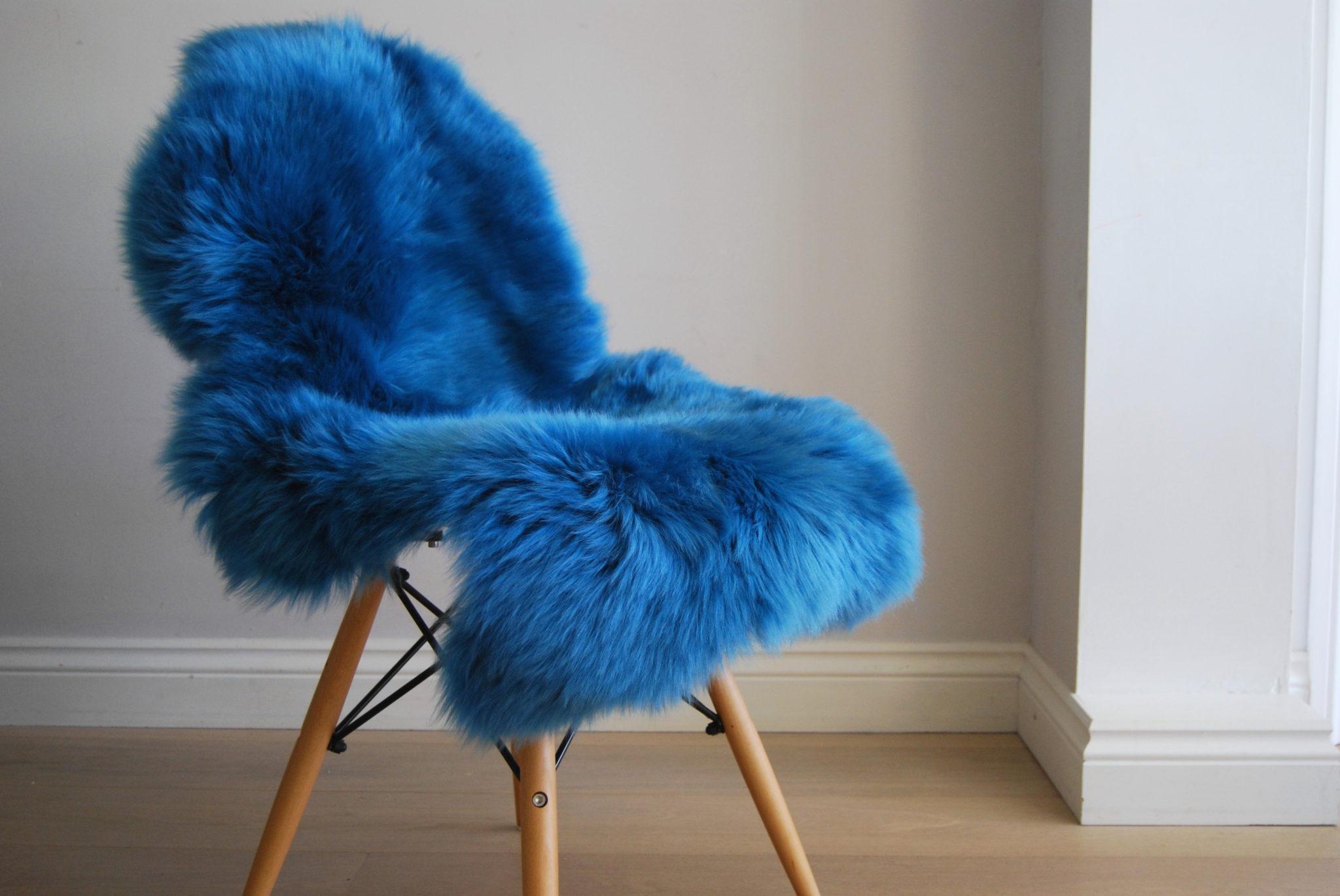 Cobalt Blue Sheepskin