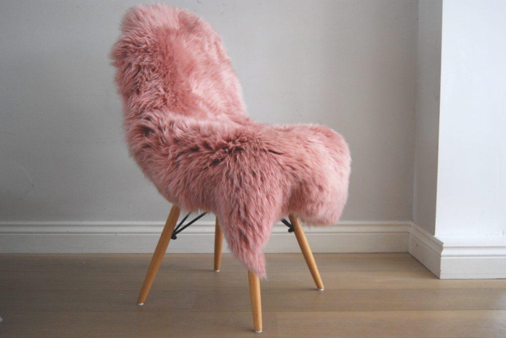 Dusky Pink Sheepskin Rug The Swedish Wooden Horse Company