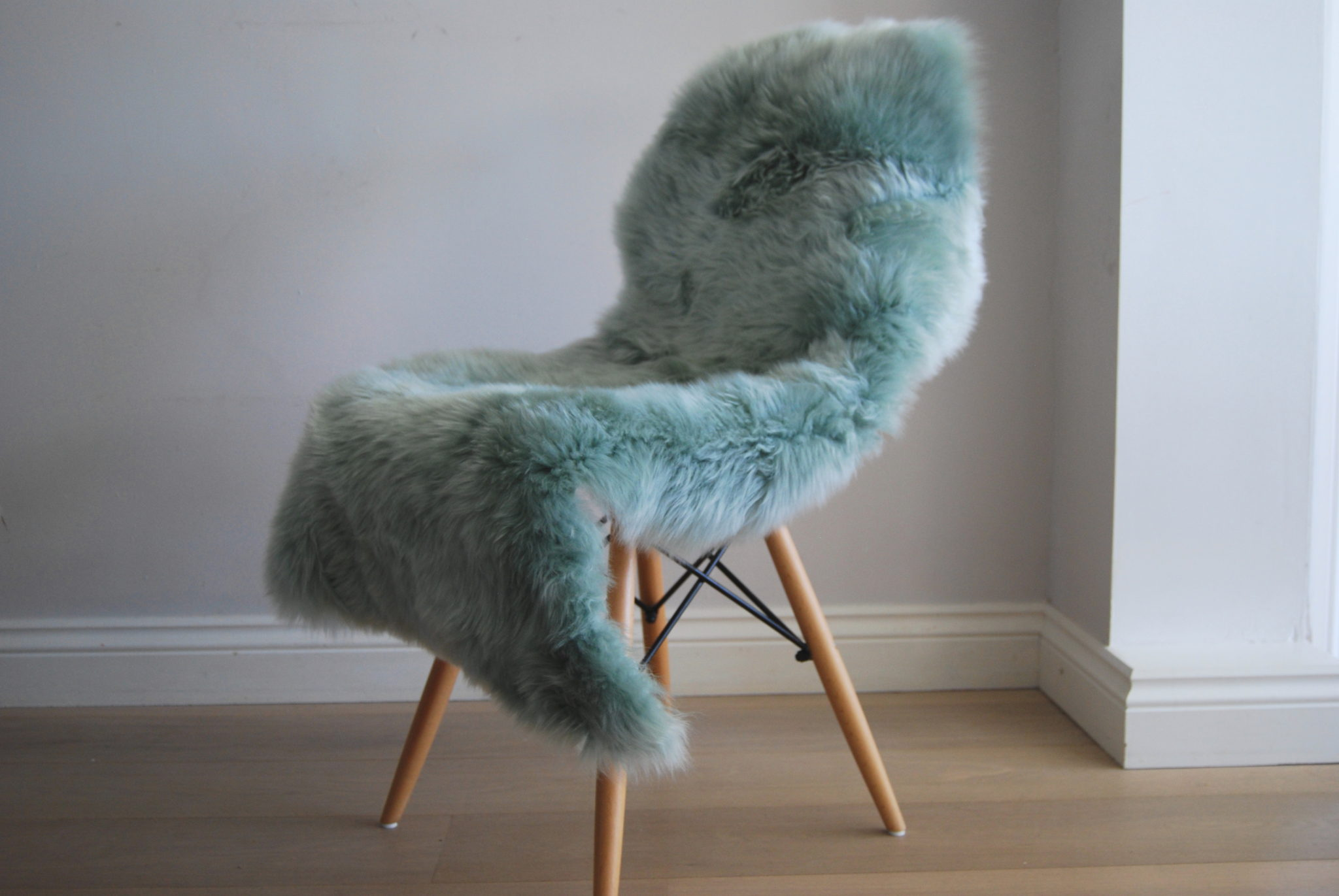 Teal Sheepskin Rug Home Decor