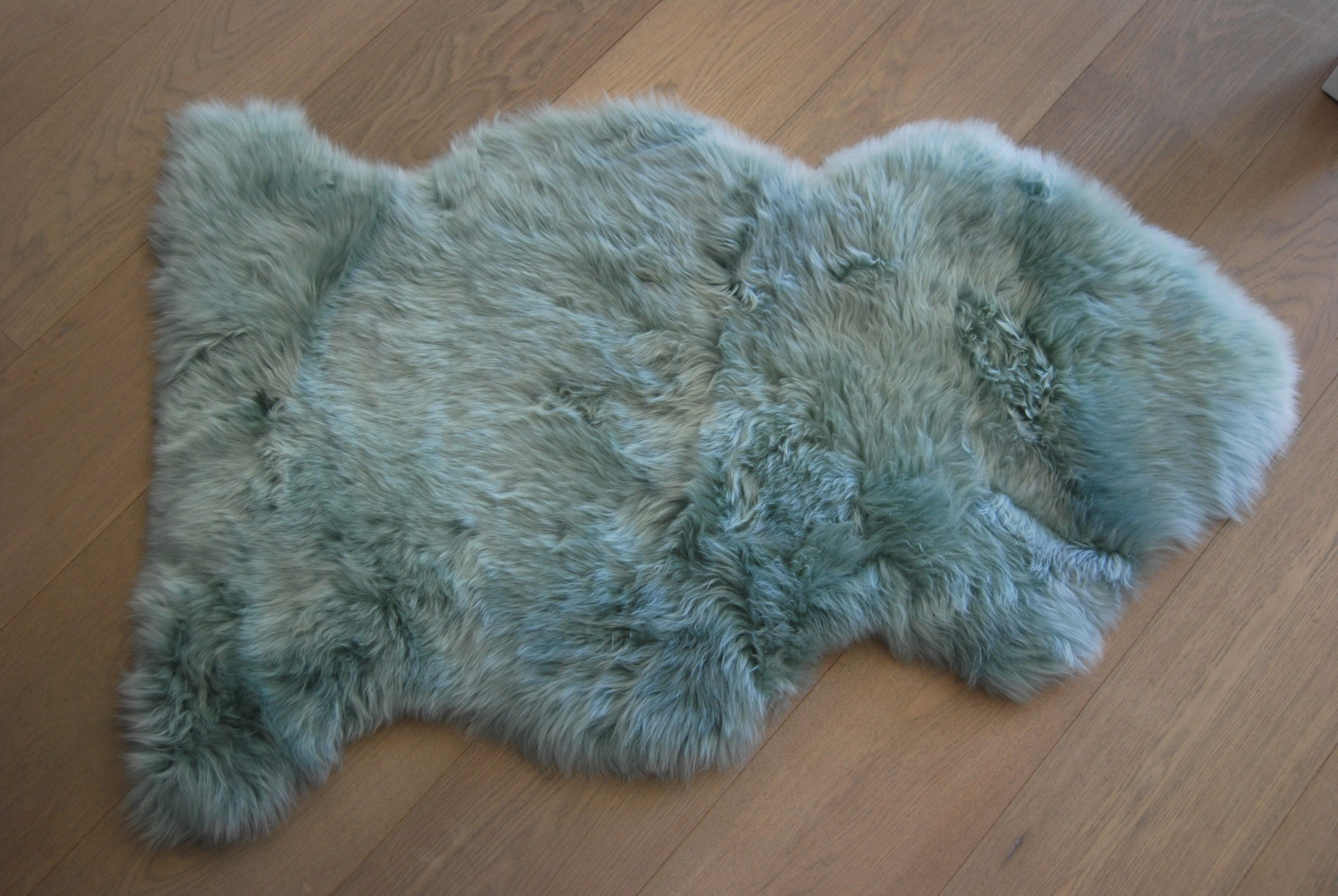Slate grey sheepskin rug single - Duck Egg Sheepskin The Swedish Wooden Horse Company