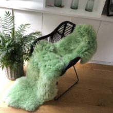 Spearmint green sheepskin