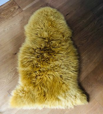 Ochre yellow sheepskin