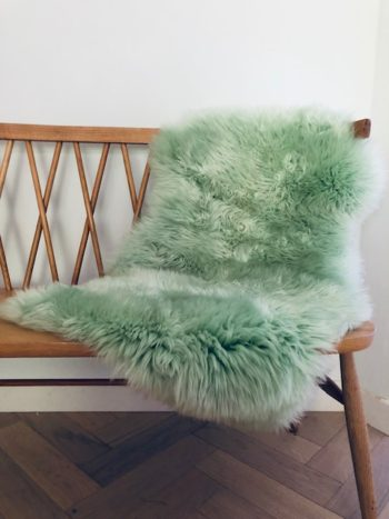 Mint Green Sheepskin