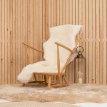 large ivory shearling double sheepskin rug