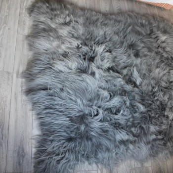 Huge Icelandic Grey Sheepskin Rug The Swedish Wooden Horse Company