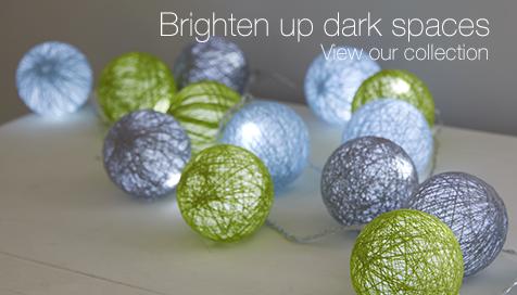 Brighten up dark spaces with our lighting range