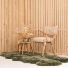 moss green sheepskin