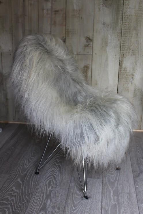 Natural Grey Undyed Icelandic Sheepskin