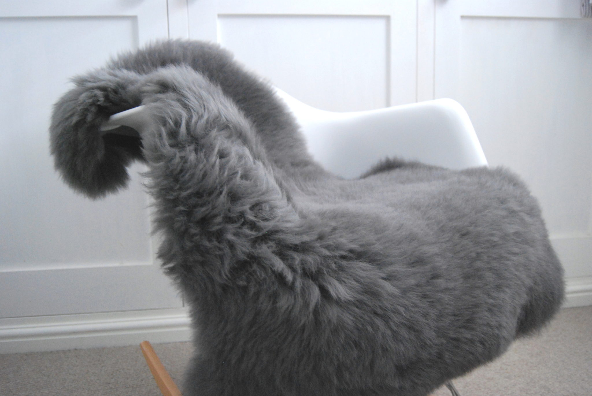 Slate Grey British Sheepskin The Swedish Wooden Horse