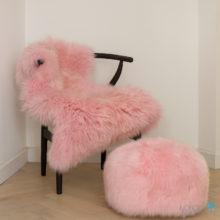 pale pink pouffe