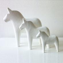 Scandinavian White Dala Horses