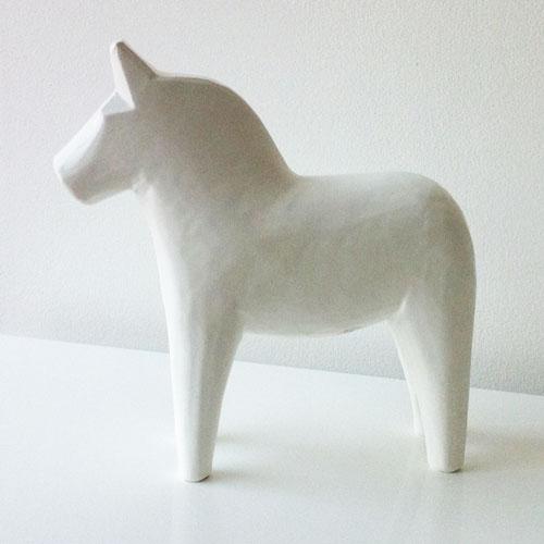 Scandinavian White Dala Horse