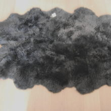 Slate grey sheepskin rug single - Sheepskin Rugs The Swedish Wooden Horse Company