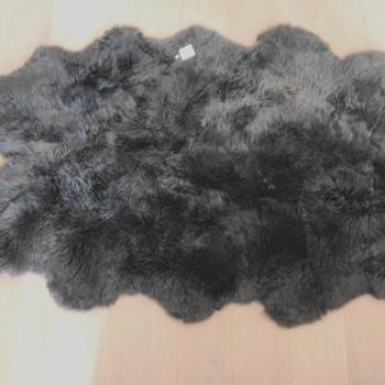 Slate grey sheepskin rug single - Huge Slate Grey Sheepskin Rug The Swedish Wooden Horse