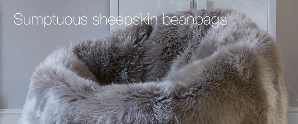 Sumptuous Sheepskin Beanbags